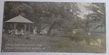 1910 PHOTO POSTCARD A SHADY NOOK IN HERSHEY PARK HERSHEY CHOCOLATE CO HERSEY PA