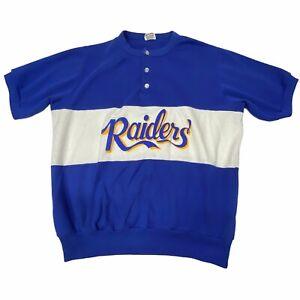 Vintage Rugby Shirt Short Sleeve Raiders Men's XLarge Kentucky Recreation League