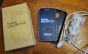 Samsung Galaxy S5 SM-G900V 16GB Charcoal Black (Verizon) Smartphone Need Battery