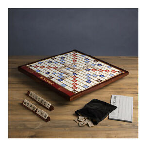 Winning Solution Scrabble Giant Deluxe Wooden Edition Rotating Board Game