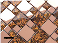 Beautiful High Quality Mix Metal Glass Mosaic Wall Tiles-Kitchen/Bathroom #J02