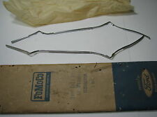 NOS FORD 1967-68 MUSTANG SHELBY PAIR OF STAINLESS DOOR EDGE GUARDS PERFECT