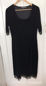 Charlie Brown Black Velvet Dress Size 16