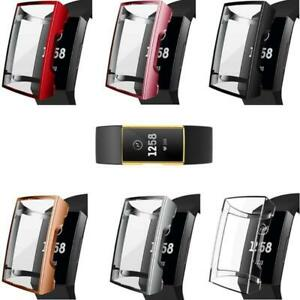Screen Protectors Case For Fit bit Charge 4/3Watch Band Replacement TPU Frame