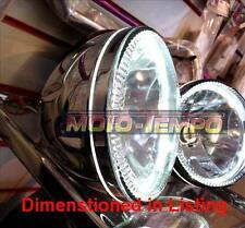 """HALO Headlight 5 3/4"""" inch Chrome Metal Body Side Mount Bobber Cafe Racer Custom"""