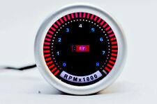 PLASMA DISPLAY REV COUNTER GAUGE (UNIVERSAL 52mm) Suits 4,6,8 Cylinders.Tacho