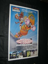 Original SKATEBOARD Rare Video Style Art 1 sheet TONY ALVA Chad McQueen