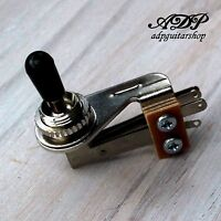 Selecteur Switch 3 ways Toggle type Switchcraft SG Right Angle bouton Noir Black