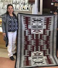 Native american Navajo Handmade Storm Pattrem Design Rug *Cornelia Yellow Horse*