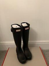 Hunter Tall Wellington Women's Original Wellies Black UK 3- Brand New