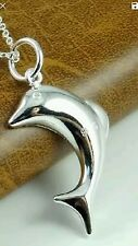 KID ADULT DOLPHIN NECKLACE SILVER PLATED