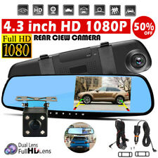 4.3 inch HD 1080P Dual Lens Auto DVR Mirror Dash Cam Recorder&Rear View Camera