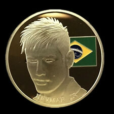 Neymar Brazil Soccer Collector Gold Plated Coin awesome