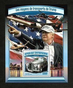 Central Africa 2017 - Donald Trump's Transportation Modes - Souvenir Sheet - MNH