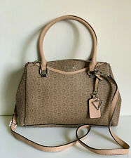 NEW! GUESS WRIGHT COLLECTION MOCHA BROWN CONVERTIBLE SATCHEL CROSSBODY SLING BAG
