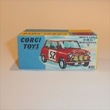 Corgi Toys  321 Morris Mini Cooper Monte Carlo Rally #52 empty Repro Box