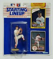 ROGER CLEMENS Boston Red Sox Kenner Starting Lineup SLU MLB 1990 Figure & 2Cards