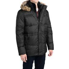 MARC NEW YORK ~ Andrew Marc Black Tundra Down Parka Faux Fur Hood Coat ~ Men's M