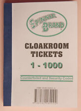 10 Books of 1-1000 Cloakroom Raffle Tombola Tickets 10 Different Colours