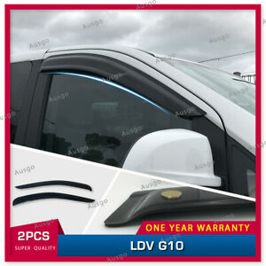 AUS Luxury Weather Shields Weathershields Window Visors for LDV G10 2016+ #T
