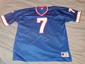Doug Flutie #7 Buffalo Bills Blue CHAMPION Football Jersey sz 52/2XL