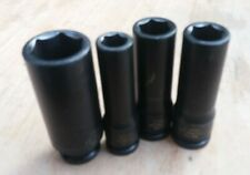 """KENNEDY 3/8"""" DRIVE IMPACT LONG  INDUSTRIAL FINISH 6 POINT SOCKET 10mm 13mm 19mm"""