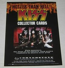 "1997 Kiss Collector Cards Dealer Advertisement Promo Flyer 8.5""  x 11"""