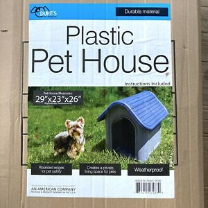 Plastic Dog House Small to Medium Pet All Weather Doghouse Puppy Shelter NEW!