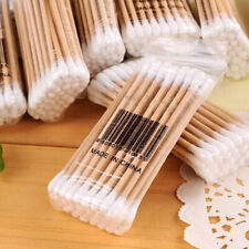 KM_ 200pcs Disposable Medical Cotton Swabs Wooden Sturdy Q-tips Applicator