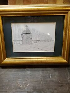 Framed Clark M. Goff. Dovecote pigeon house , Union soldier 1864 framed card