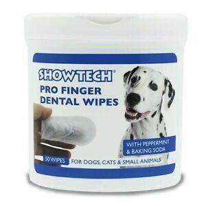 Hunde Zahnreinigung 50 Stück Zahnreinigungs-Fingerlinge für Hundezähne