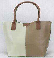 Shopper Tasche von TOM TAILOR Miri Cut Marken Handtasche Bag Tasche Weiß-Taupe