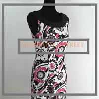 DressBarn NWOT Womens Size 6 Black & Pink Floral Sleeveless Casual Dress 8099
