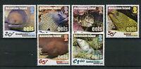 Ascension Island 2017 MNH Eels 6v Set Moray Eel Fish Fishes Marine Stamps