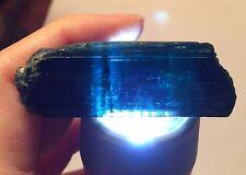 180 Ct~ Large Gem Indicolite Bi Color Blue Tourmaline Crystal ~ Afghanistan