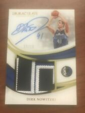 2018-2019 Immaculate - Dirk Nowitzki on card patch auto #d 13/15 - Mavericks
