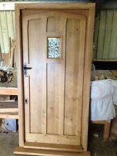 Solid Oak Gothic Door With Window, No Vat!!! Exterior Hardwood Joinery Door Only
