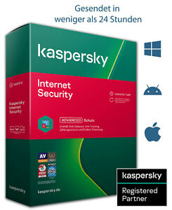 Kaspersky Internet Security 2021 - 1 / 3 / 5 / 10 Geräte | 1 / 2 Jahre
