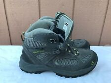 EUC VASQUE YOUTH UNISEX ULTRADRY 7213 GRAY GREEN HIKING TRAIL BOOTS US SZ 4 Y