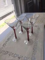 Set of 4 - Stolichnaya Vodka - Martini Glasses