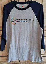 Hanes Quarter Sleeve Baseball T-Shirt breastfeeding