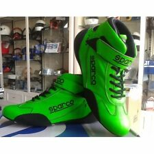 SPARCO RACE BOOTS FIA GREEN SHOES FEUERFESTE SCHUHE 42-43-44-45-46-47 FIA