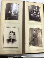 Antique Photo Album w/ 58 Cabinet Cards Some Labeled Smith Families