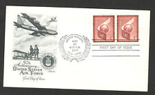 UNITED NATIONS-UNITED STATES- FDC-AIR MAIL-AIR FORCE-PLANE-1957.