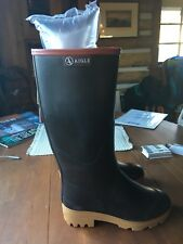 AIGLE FRANCE WOMAN RUBBER BOOTS CHAMBORD PRO LADY 2 ISO SZ 37, SZ 7, NEW W TAGS