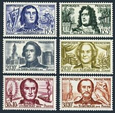 France B330-B335,MNH.Michel 1251-1256. Famous people,1959.Ships,Gardens,Torch