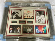 More details for framed queen autographs - freddie mercury, john deacon, brian may and roger tayl