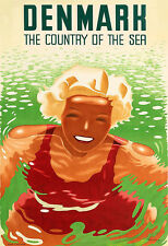 Art Ad  Denmark Country of the Sur Travel  Poster Print