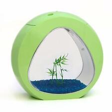 Small Nano Curve Aquarium Fish Tank Coldwater Tropical LED Lighting 13.5L Green