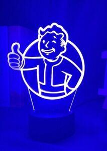 Fallout Shelter 3D night light LED lamp gamer fan gift ideas